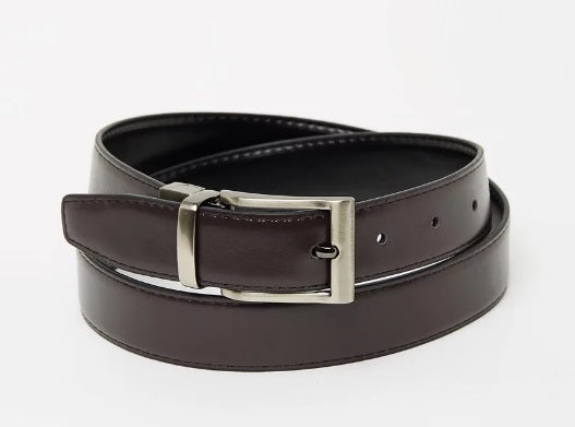 Buckle Banyan Black/Chestnut Belt - Ignition For Men