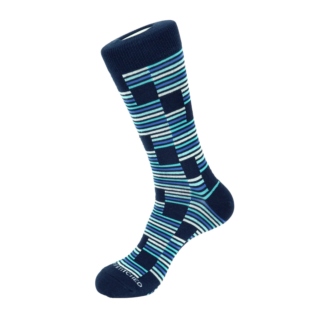 Unsimply Stitched Blue No Signal Socks UNST-12038-4