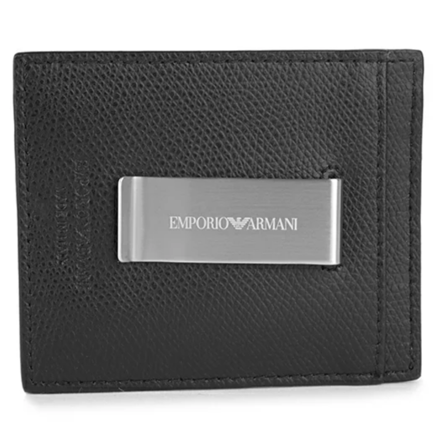 Emporio Armani Card Holder with Clip - Ignition For Men