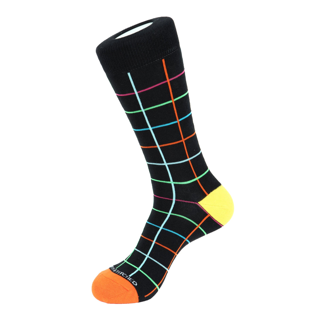 Unsimply Stitched Color Grid Socks