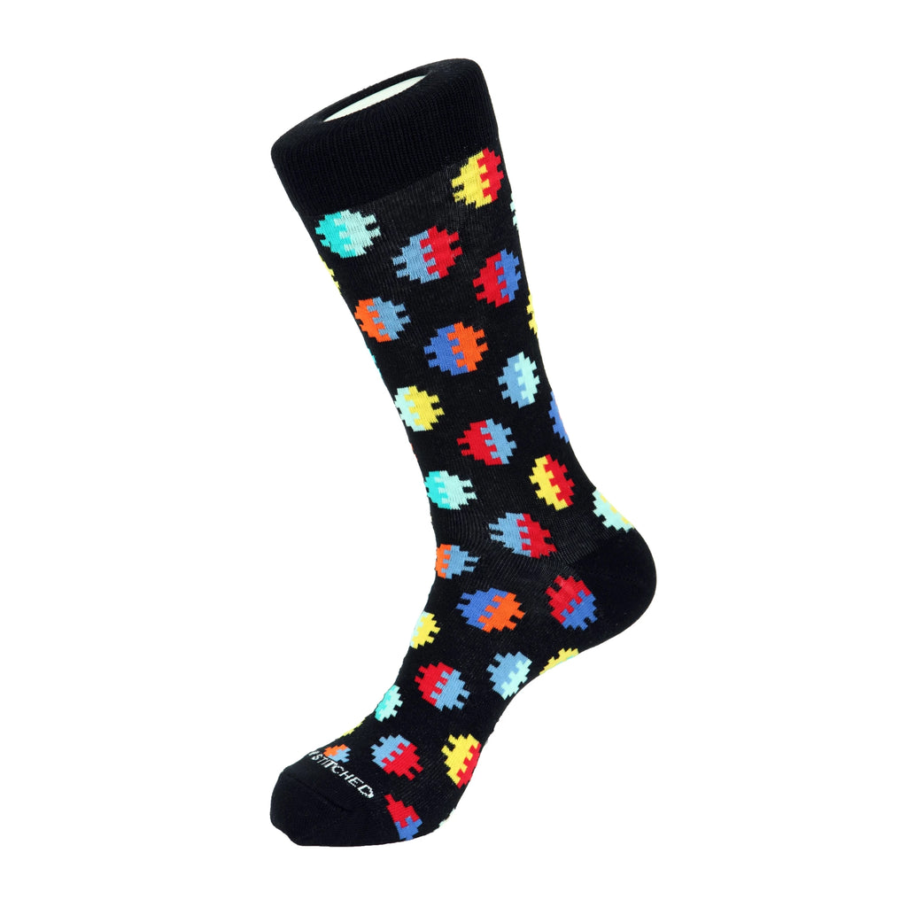 Unsimply Stitched Digital Dot Socks Black Multi UNST-12039-1