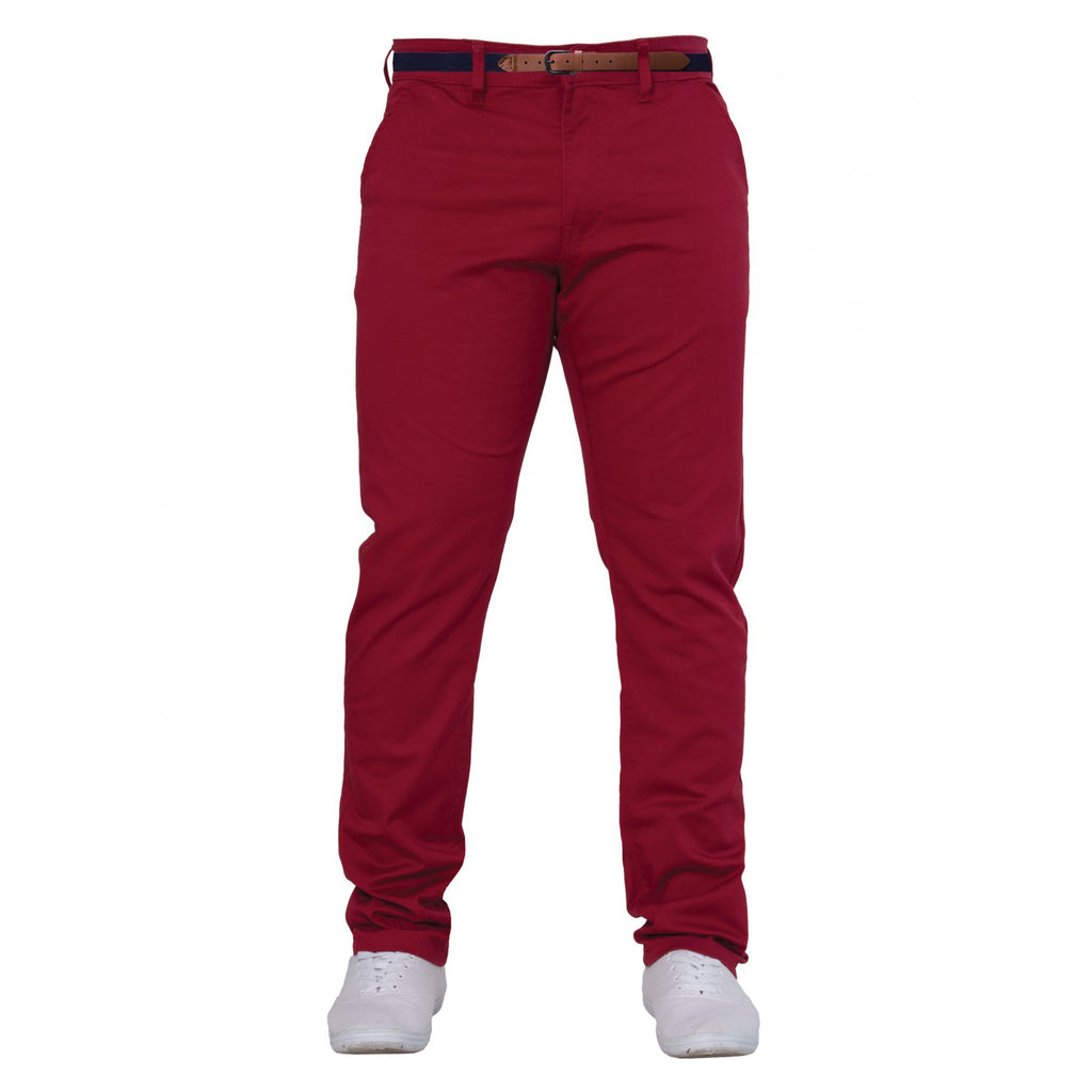 Enzo Red Chinos - Ignition For Men