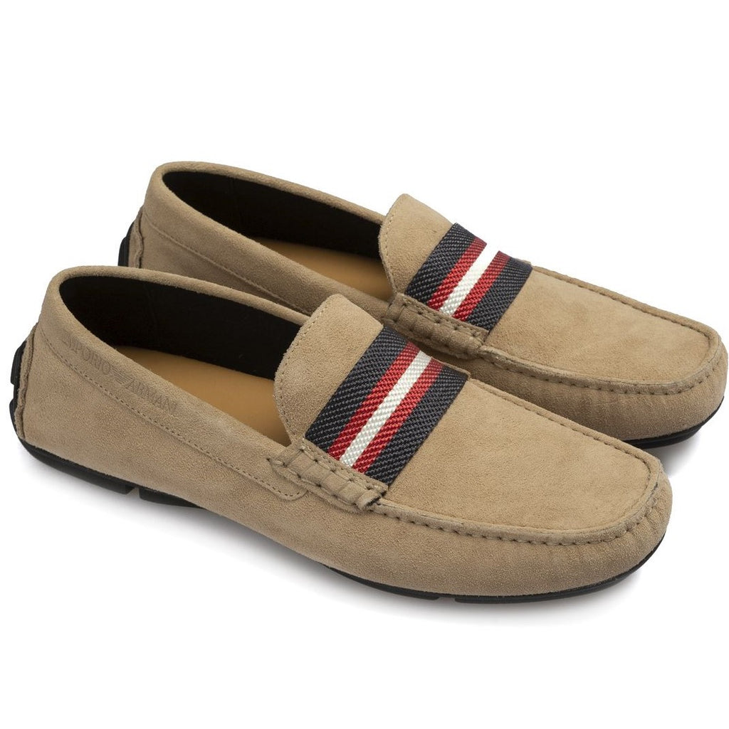 Emporio Armani Driver Moccasins - Ignition For Men