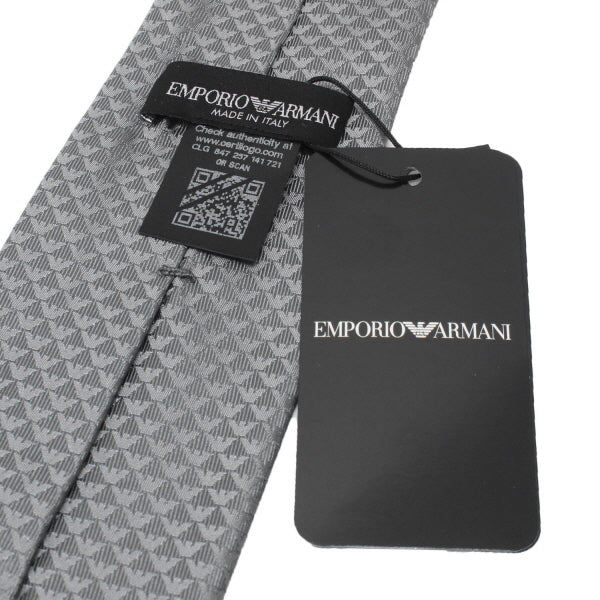 Emporio Armani Steel Grey Tie - Ignition For Men