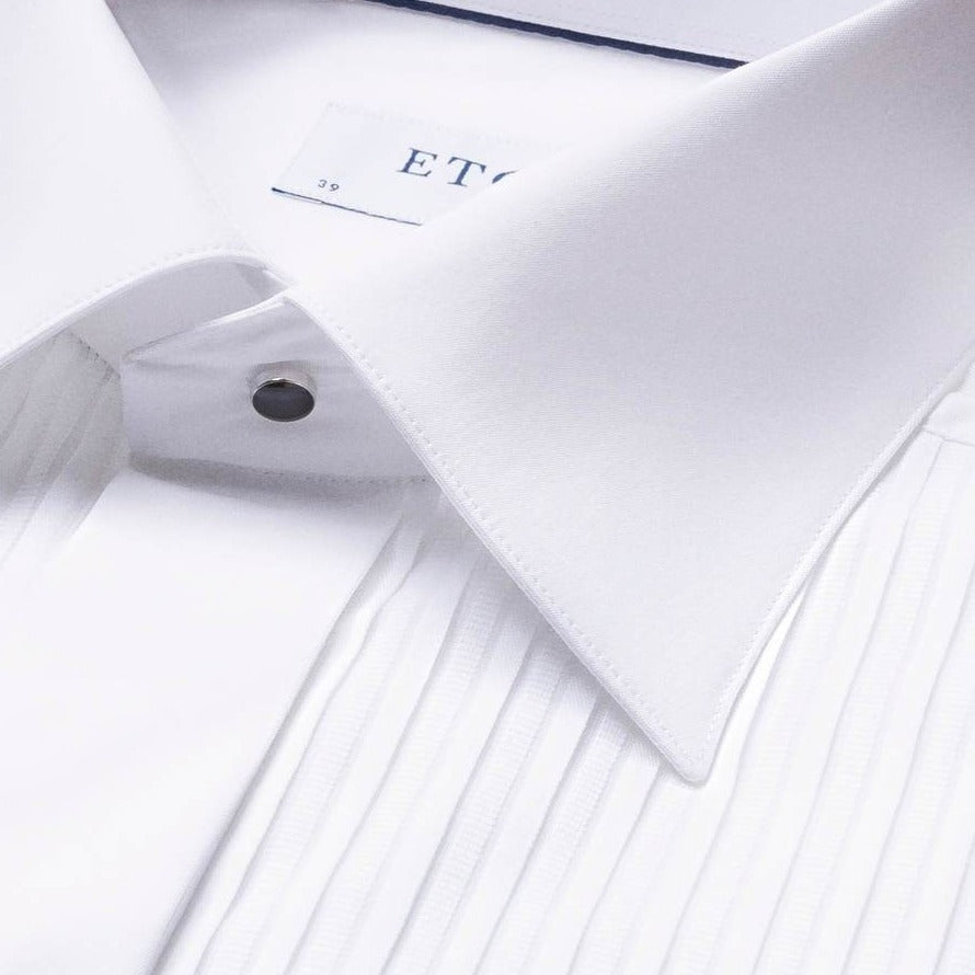 Eton White Plisse Evening Contemporary Fit Dinner Shirt - Ignition For Men