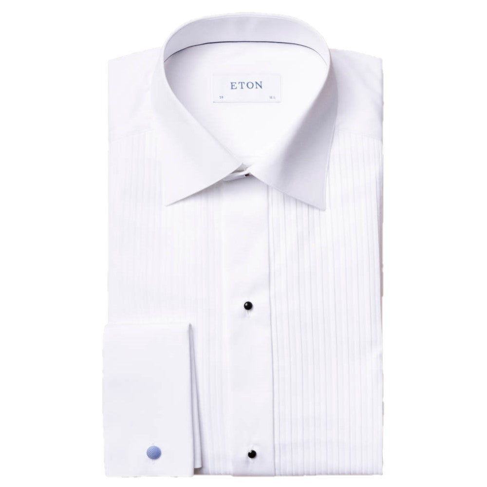 Eton White Plisse Evening Slim Fit Dinner Shirt - Ignition For Men