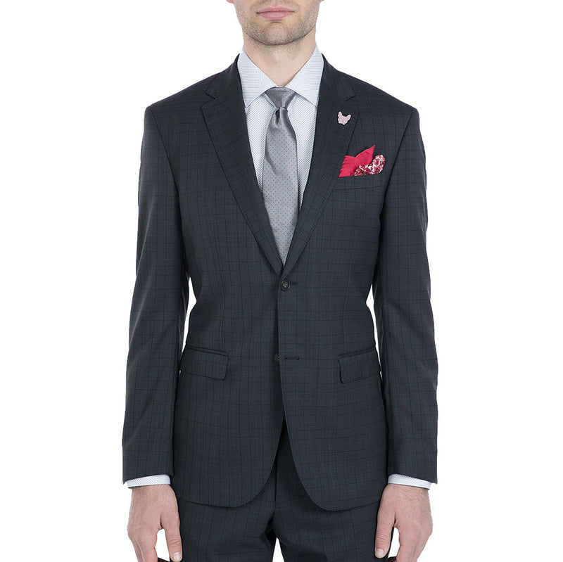 Gibson 2Pce Suit FGI610 Charcoal / Navy check