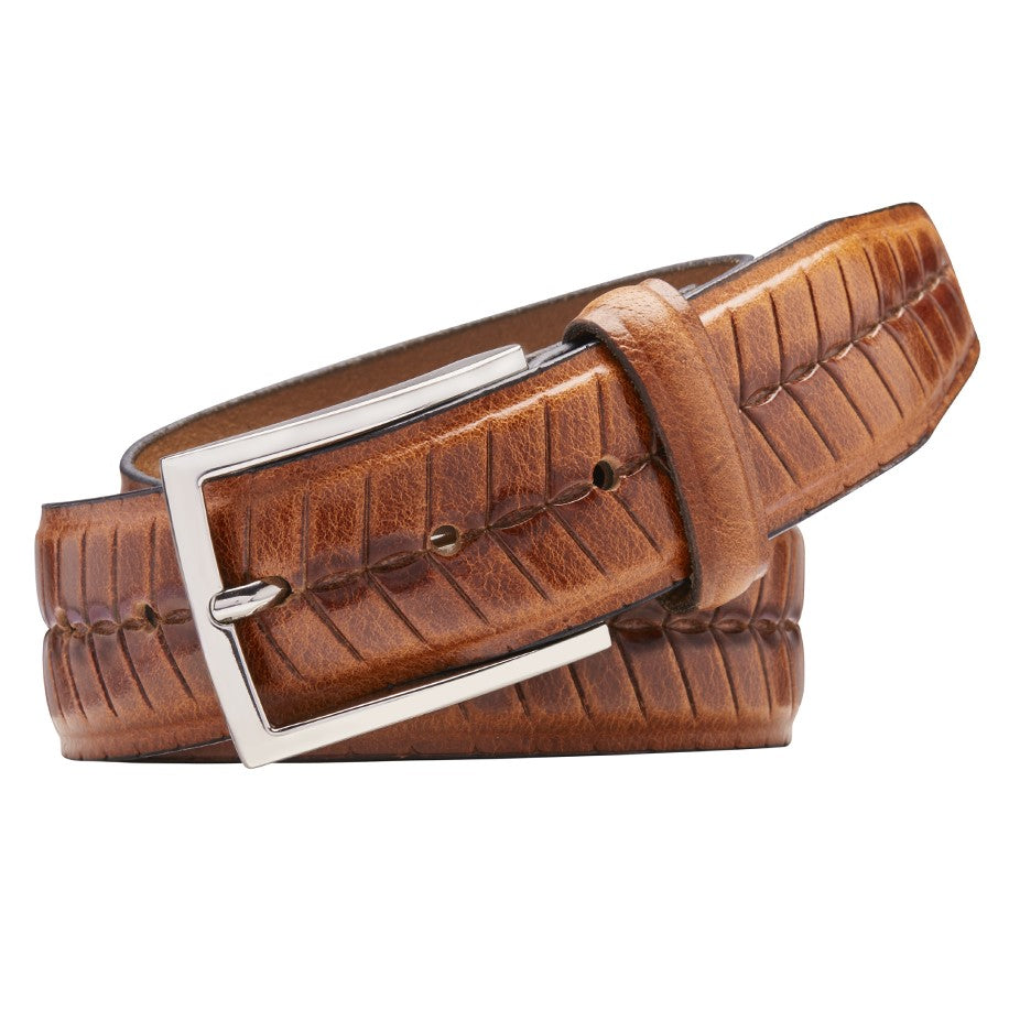 Buckle Havana Cognac Belt - Ignition For Men