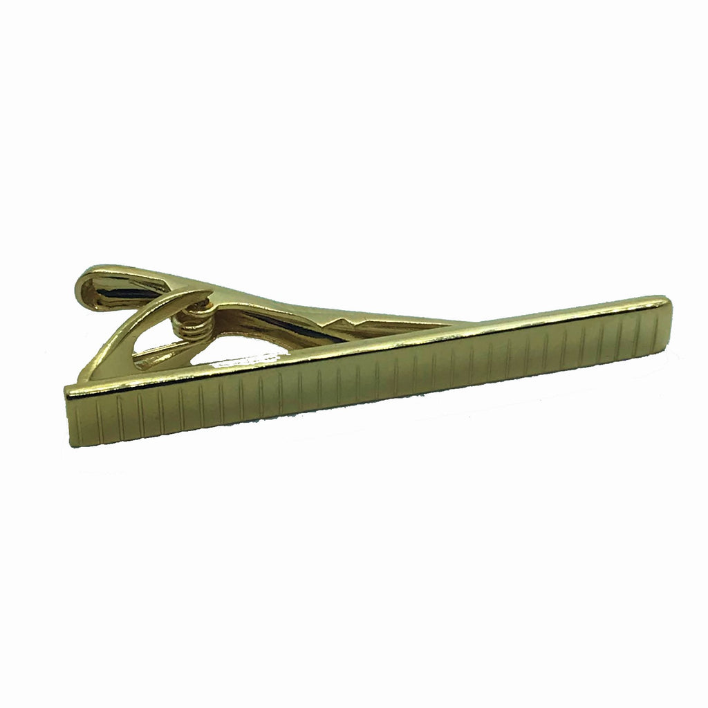Striped Gold Tie Pin - Ignition For Men