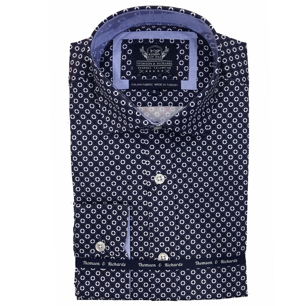 Thomson & Richards Guy Shirt Navy TR9S119