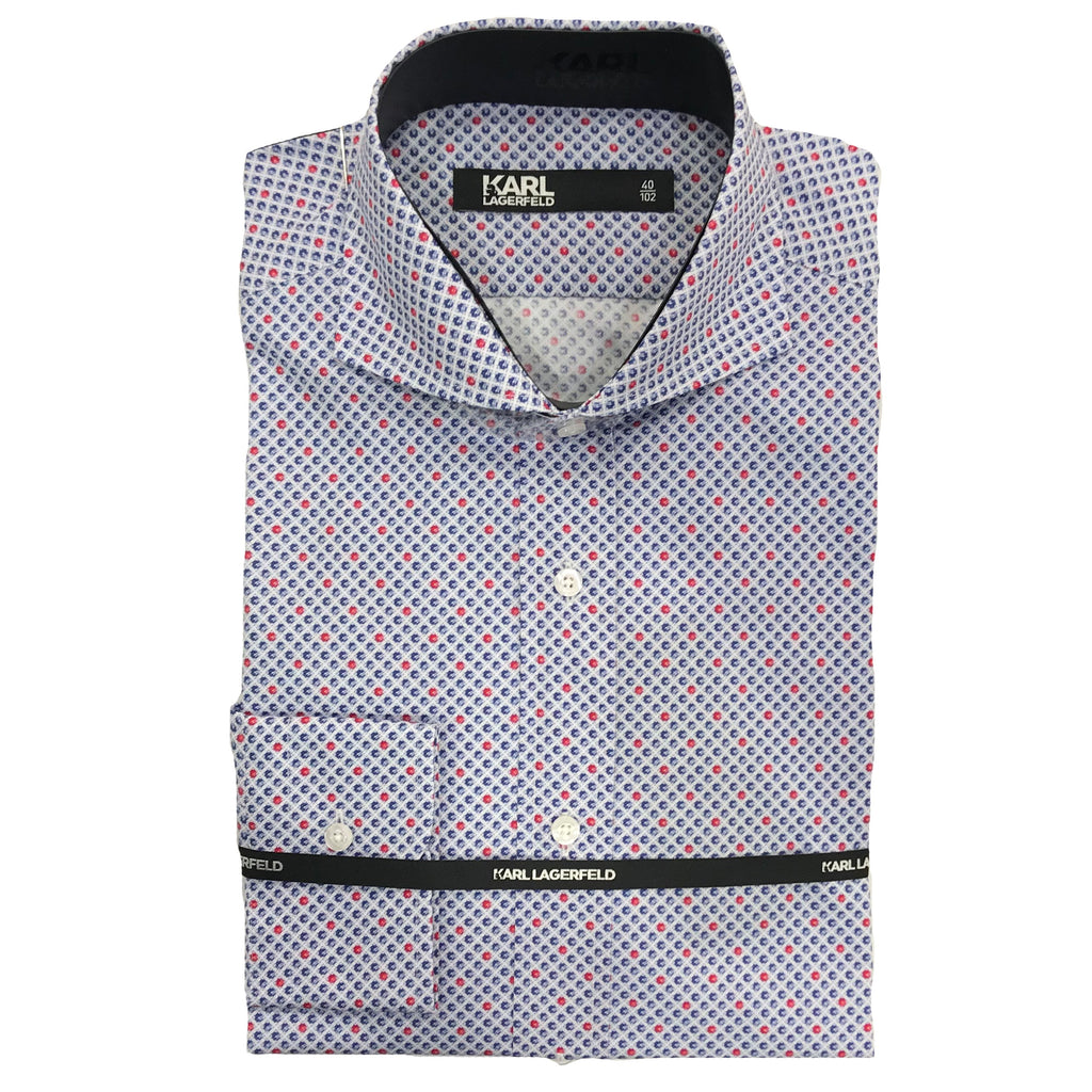 Karl Lagerfeld Shirt Navy / White / Red (Chili) 605012 591628 320
