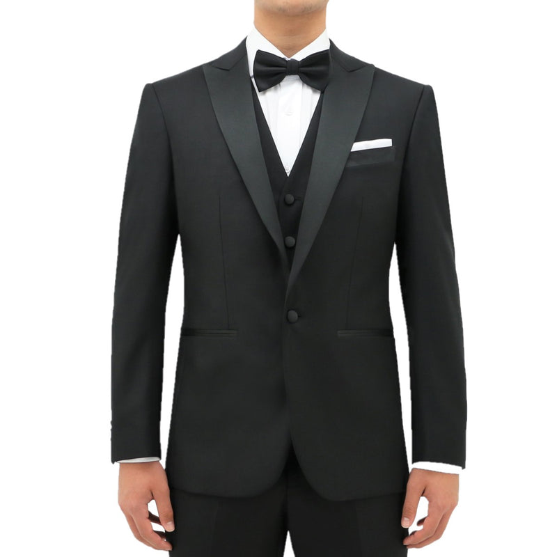 Daniel Hechter Peak Lapel Dinner Suit Jason STDH106-04 Edward Black
