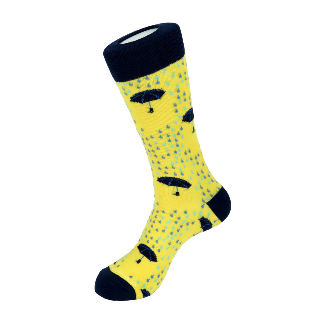 Unsimply Stitched Rainy Days Socks Yellow Multi UNSTNV-1019-3