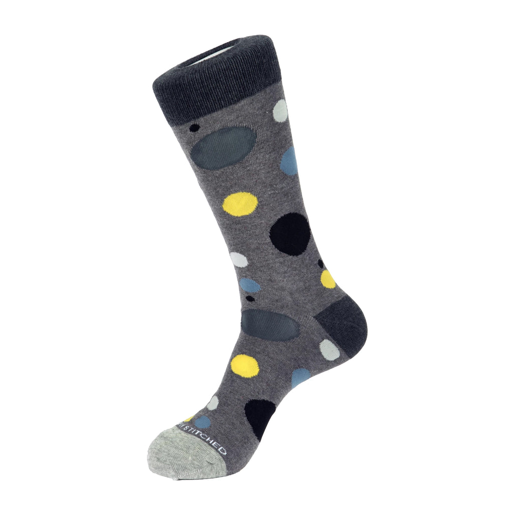 Unsimply Stitched Scatter Dot Socks Heather Grey Multi UNST-12025-4