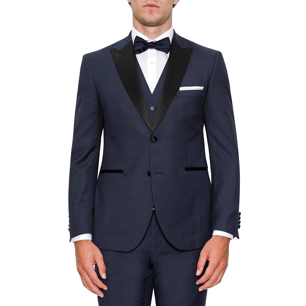 Summit Navy Dinner Suit Peak Lapel PYEF0002C1