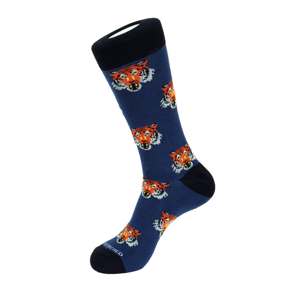 Unsimply Stitched Tiger Head Socks - Ignition For Men