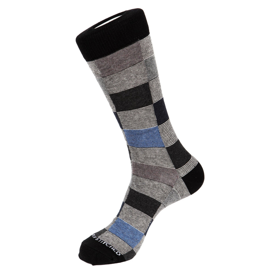 Unsimply Stitched Charlie Stripe Socks Heather Grey Multi UNST-10069-1