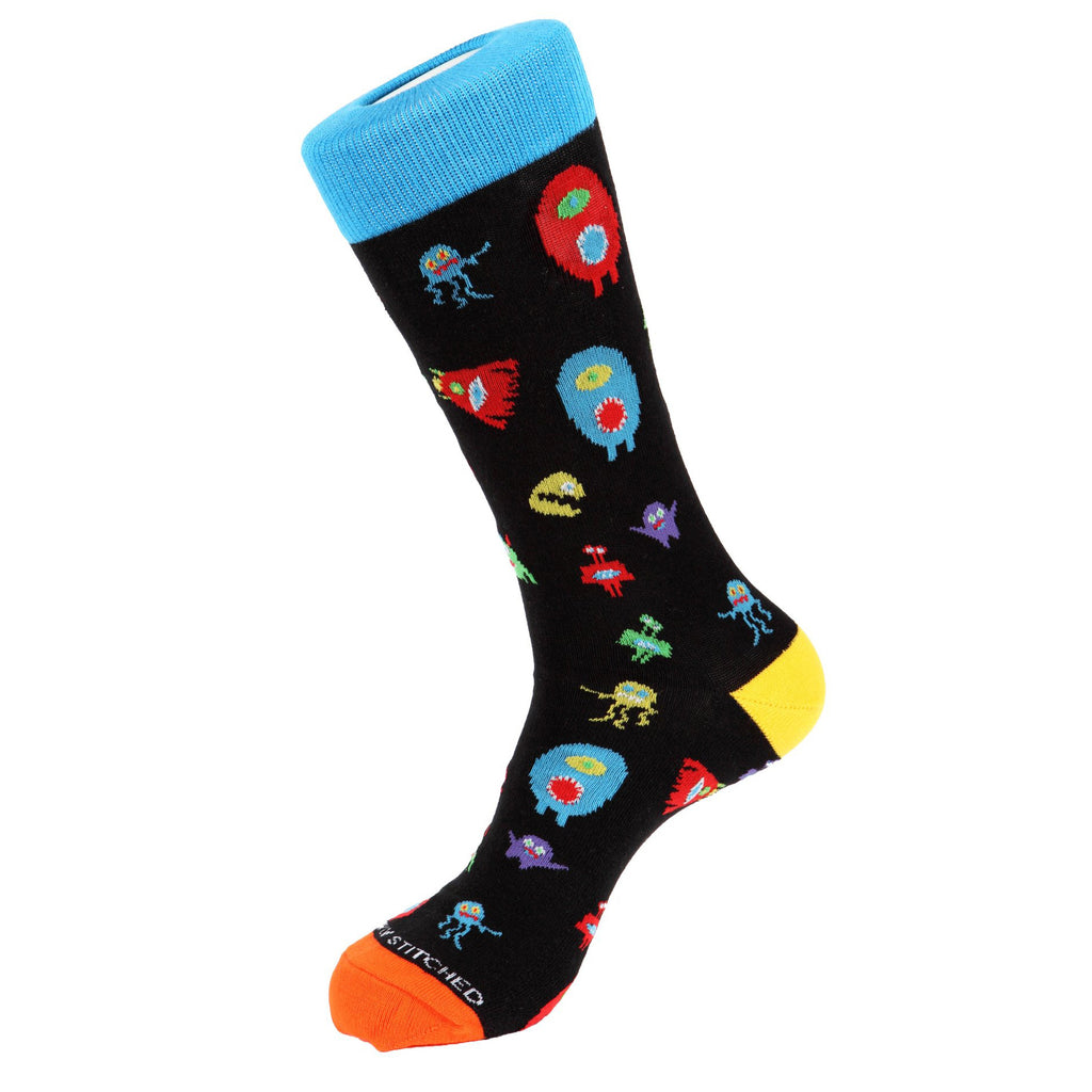 Unsimply Stitched Monster Party Socks Black Multi UNST-10077-1