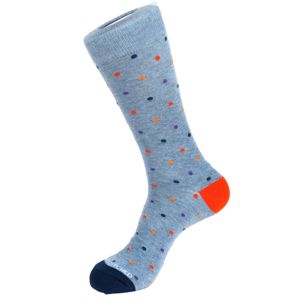 Unsimply Stitched Mini Polka Dot Socks Light Heather Blue Multi UNST-10120-3