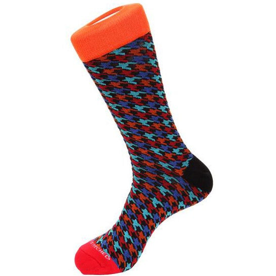 Unsimply Stitched MULTI HOUNDSTOOTH SOCKS-UNST-9010-3