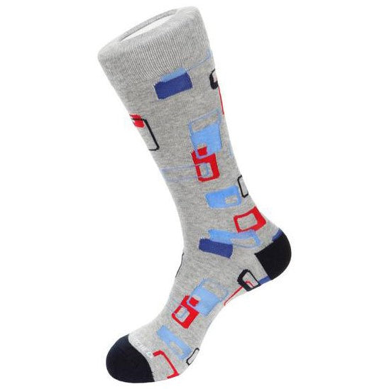 Unsimply Stitched Socks unst-9042-2 Light Grey Heather