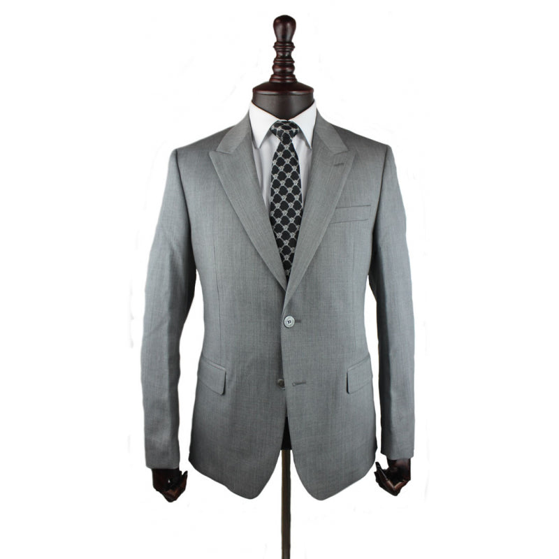 Versace collection light grey suit