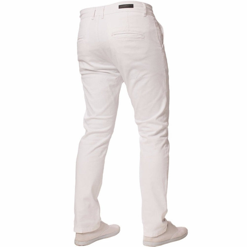 Enzo White Chinos - Ignition For Men