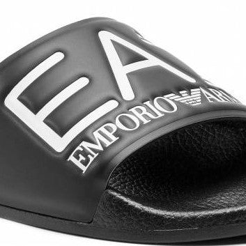 EA7 Black Slippers - Ignition For Men