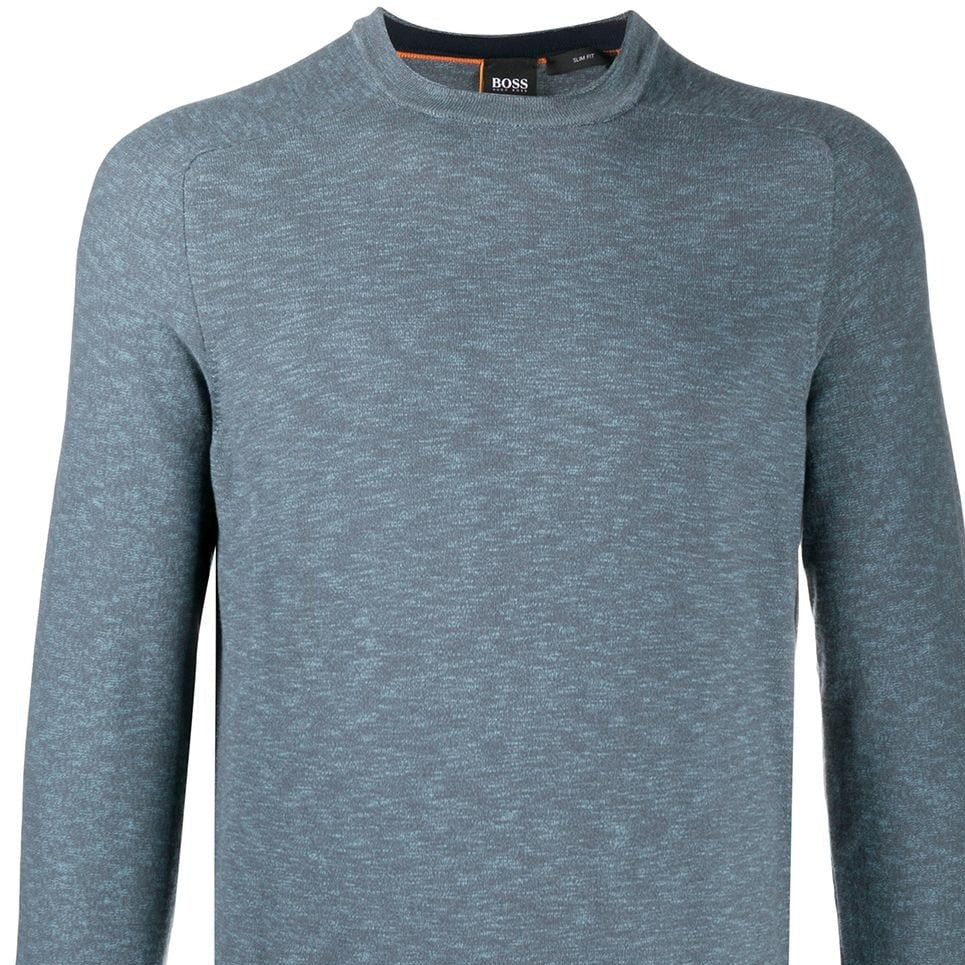 Hugo Boss Crew-Neck Cotton Jumper Blue Gray 50434313 10227894 01 026