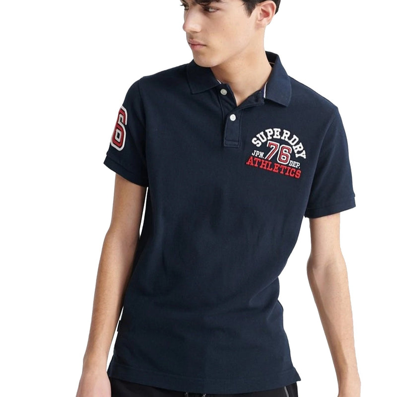 Superdry Classic Superstate Polo Navy SM03SP1B_FYI