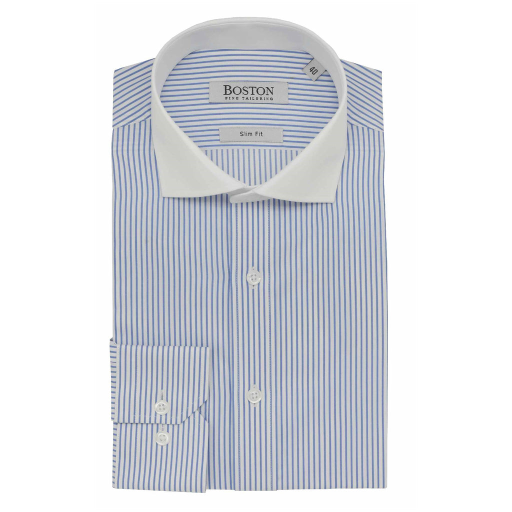 Daniel Hechter Bank Shirt Blue Pinstripe S18BS352-12