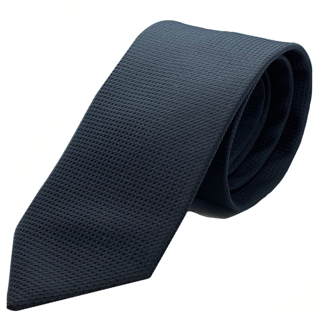 Dormeuil Black Self Pattern Tie - Ignition For Men
