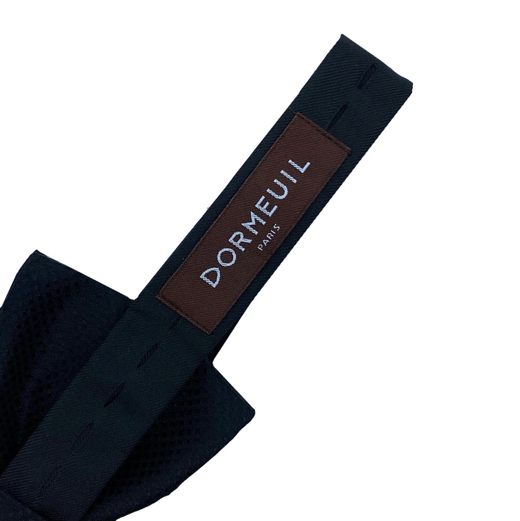Dormeuil Black Self Pattern Bow Tie - Ignition For Men