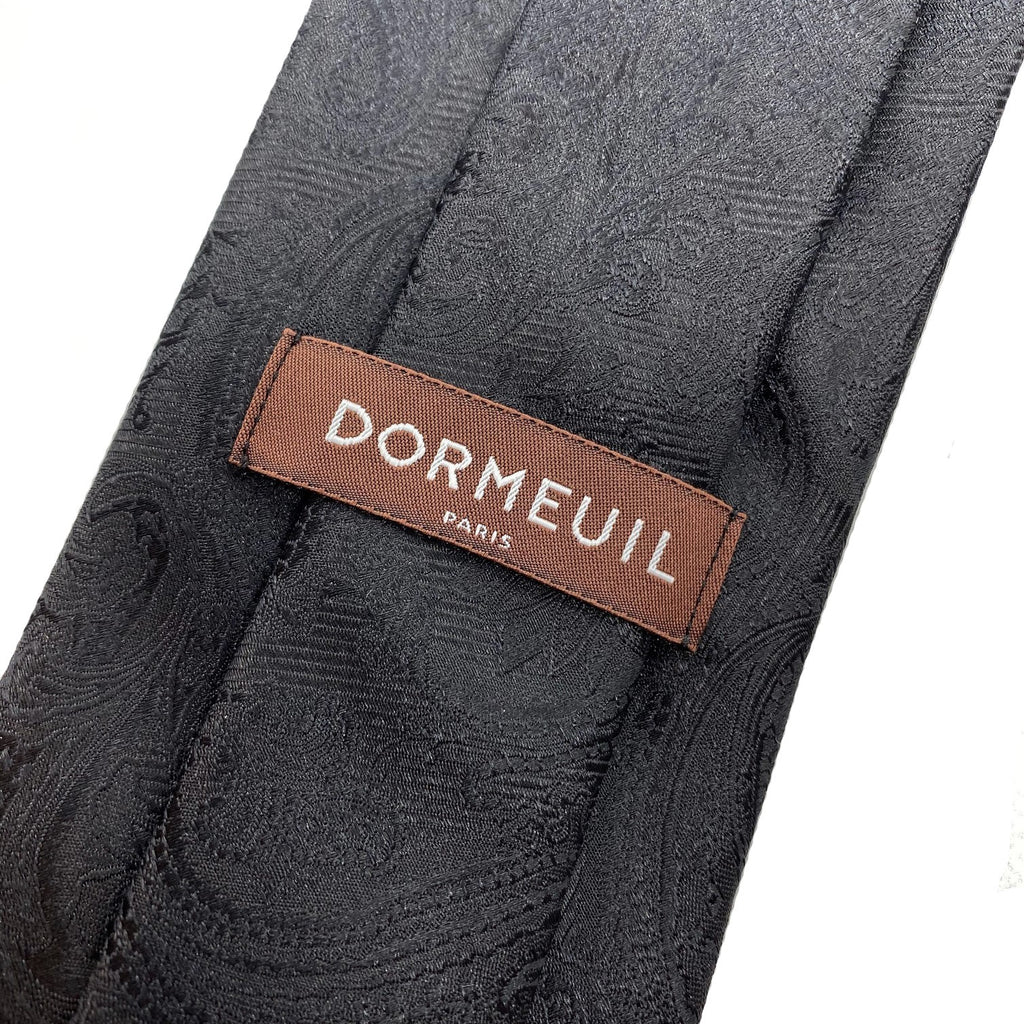 Dormeuil Black Paisley Tie - Ignition For Men
