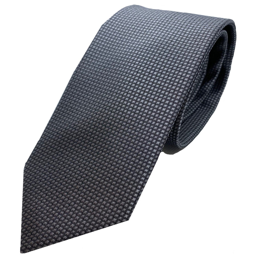 Dormeuil Charcoal Self Pattern Tie - Ignition For Men