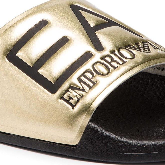 EA7 Shiney Gold Slippers XCP001 XCC22 D467