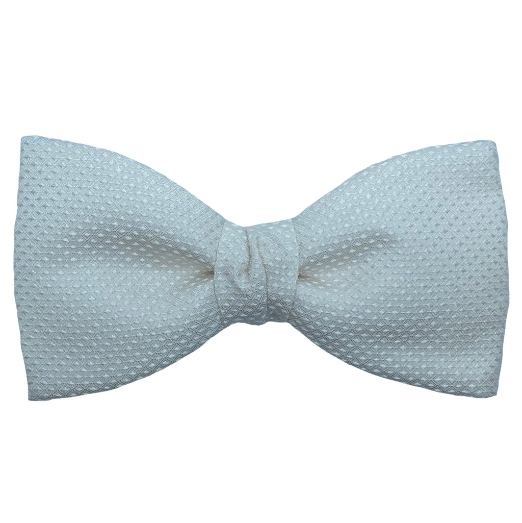 Dormeuil Ivory Self Pattern Bow Tie - Ignition For Men