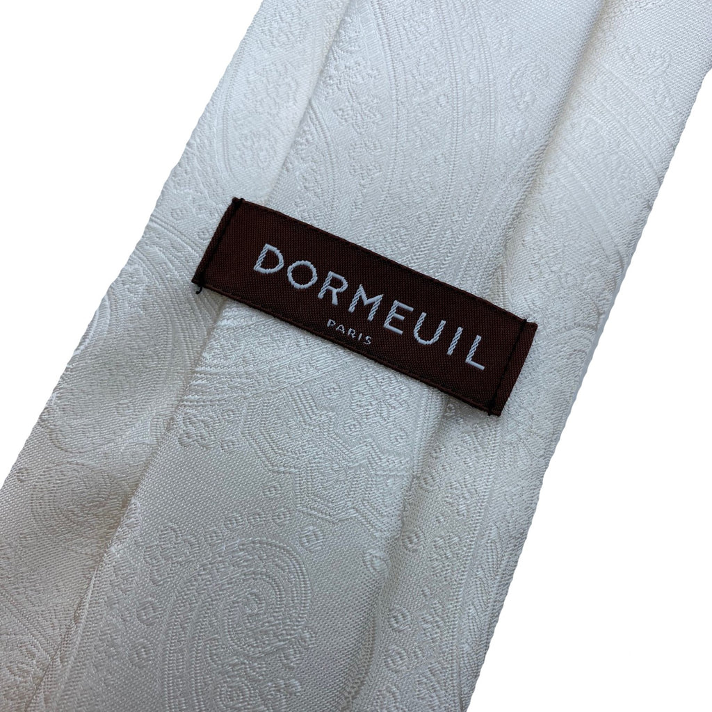 Dormeuil Ivory Paisley Tie - Ignition For Men