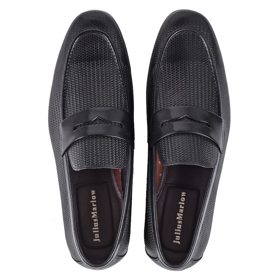 Julius Marlow Lapel Black Loafers
