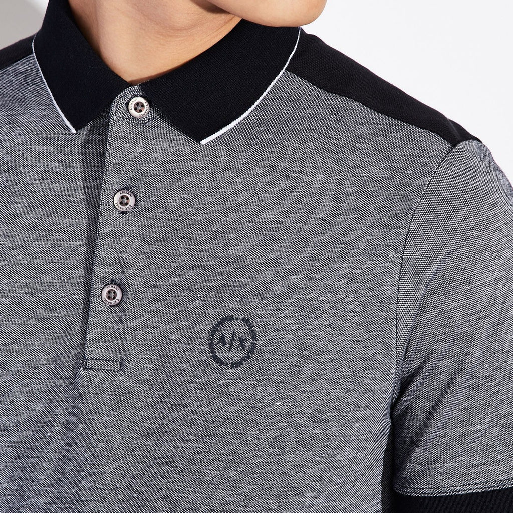 Armani Exchange Polo With Contrast Profiles - Ignition For Men