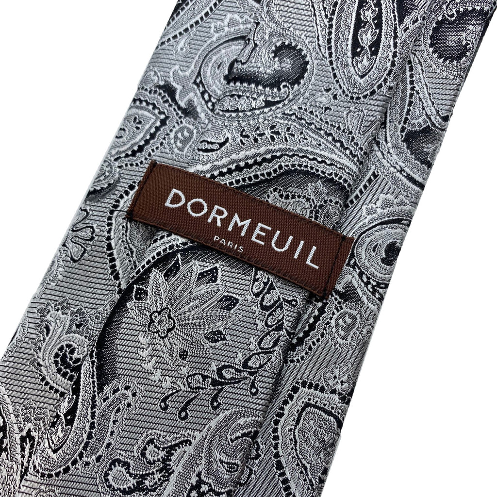 Dormeuil Silver Paisley Tie - Ignition For Men