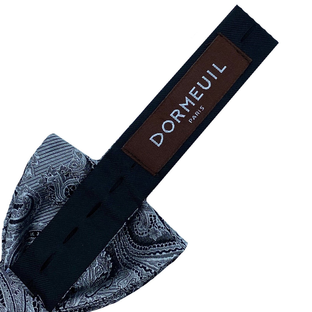 Dormeuil Silver Paisley Bow Tie - Ignition For Men