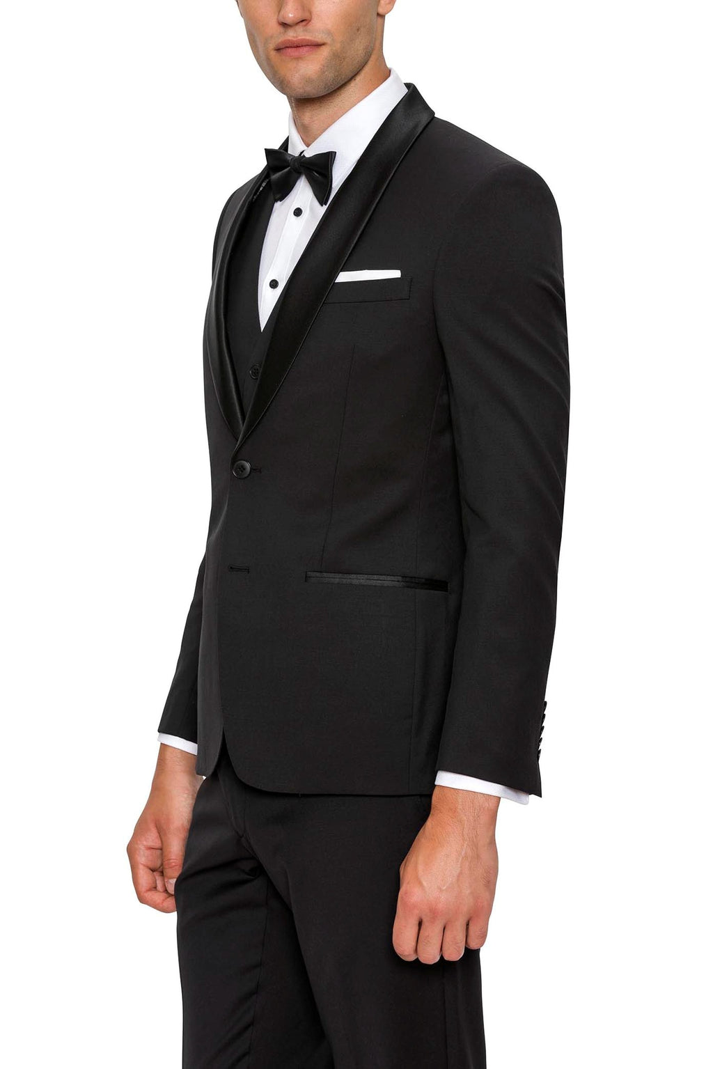 Gibson Spectre F34087 Black Shawl 2Pce Dinner Suit