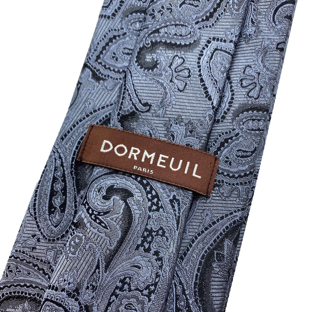 Dormeuil Slate Blue Paisley Tie - Ignition For Men