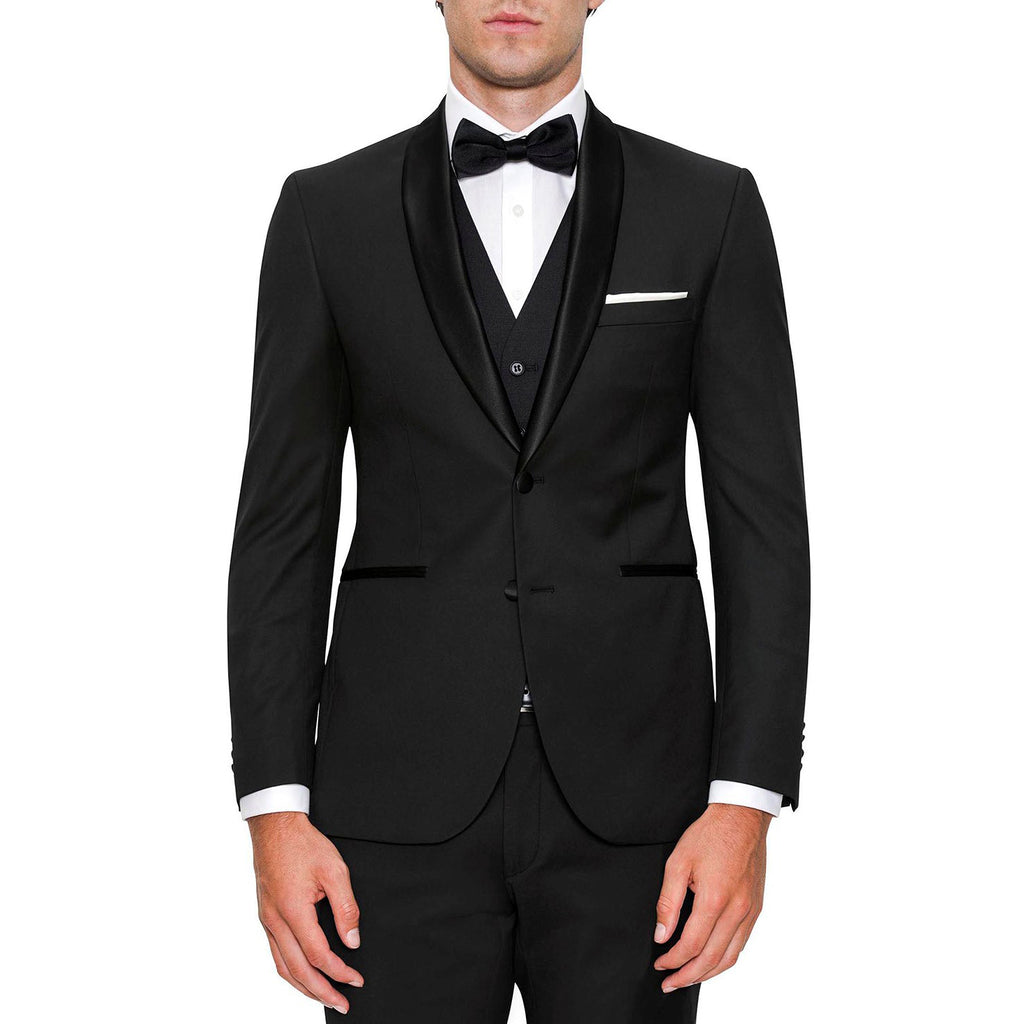 Summit Black 2Pce Dinner Suit Shawl Lapel PYEF0003T1