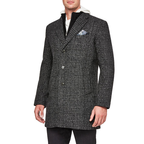 Politix Morris Coat WC23W Grey Check
