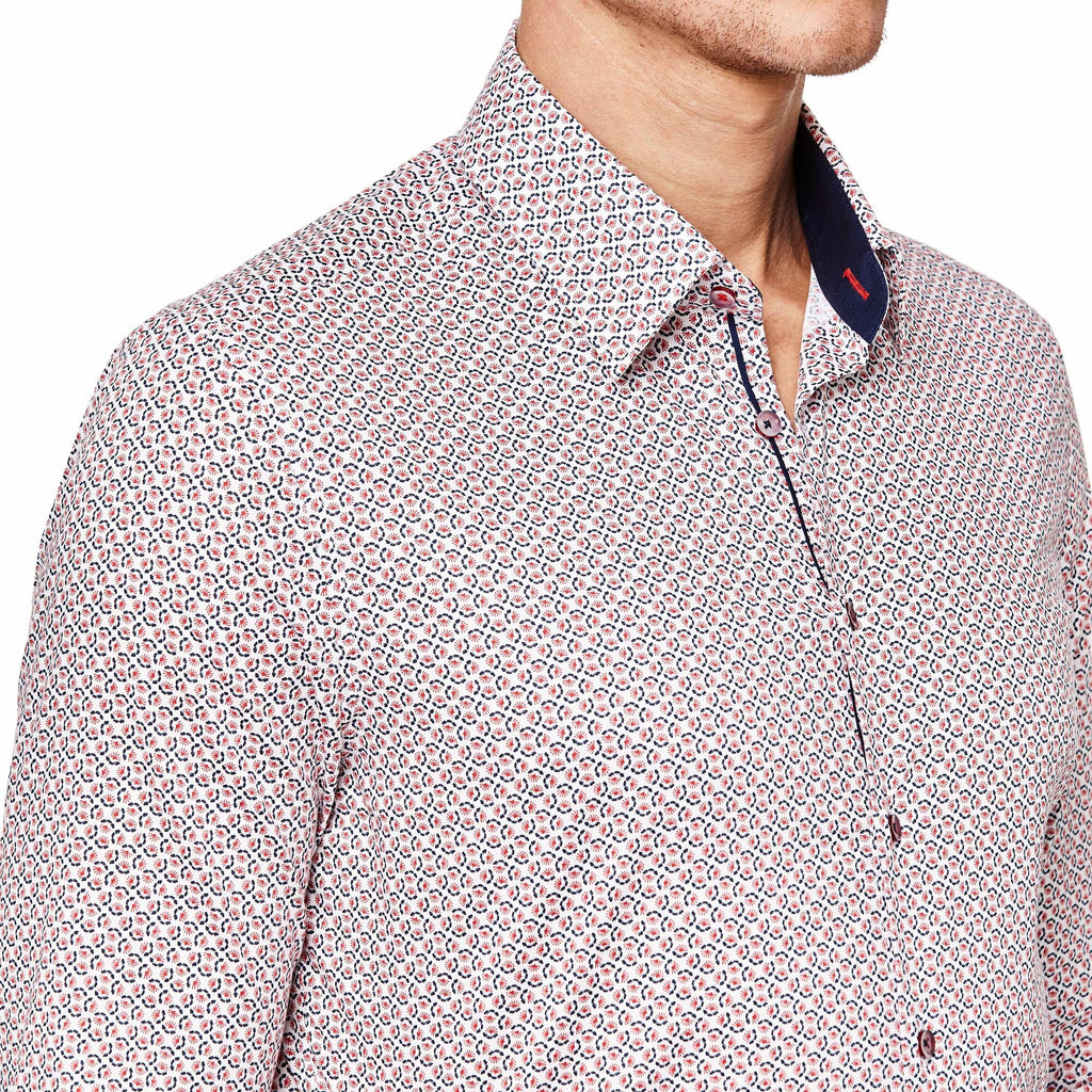 Politix Mossini Shirt XS75 White / Red