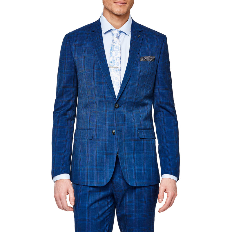 Politix Tarano Blue Check Suit XZ01