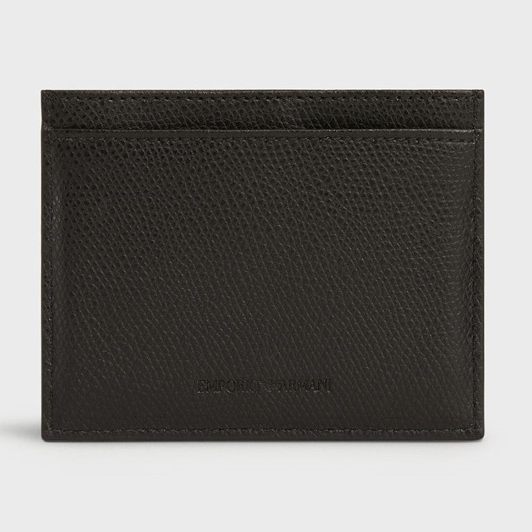 Emporio Armani Leather Card Holder YEM320 YAQ2E Black