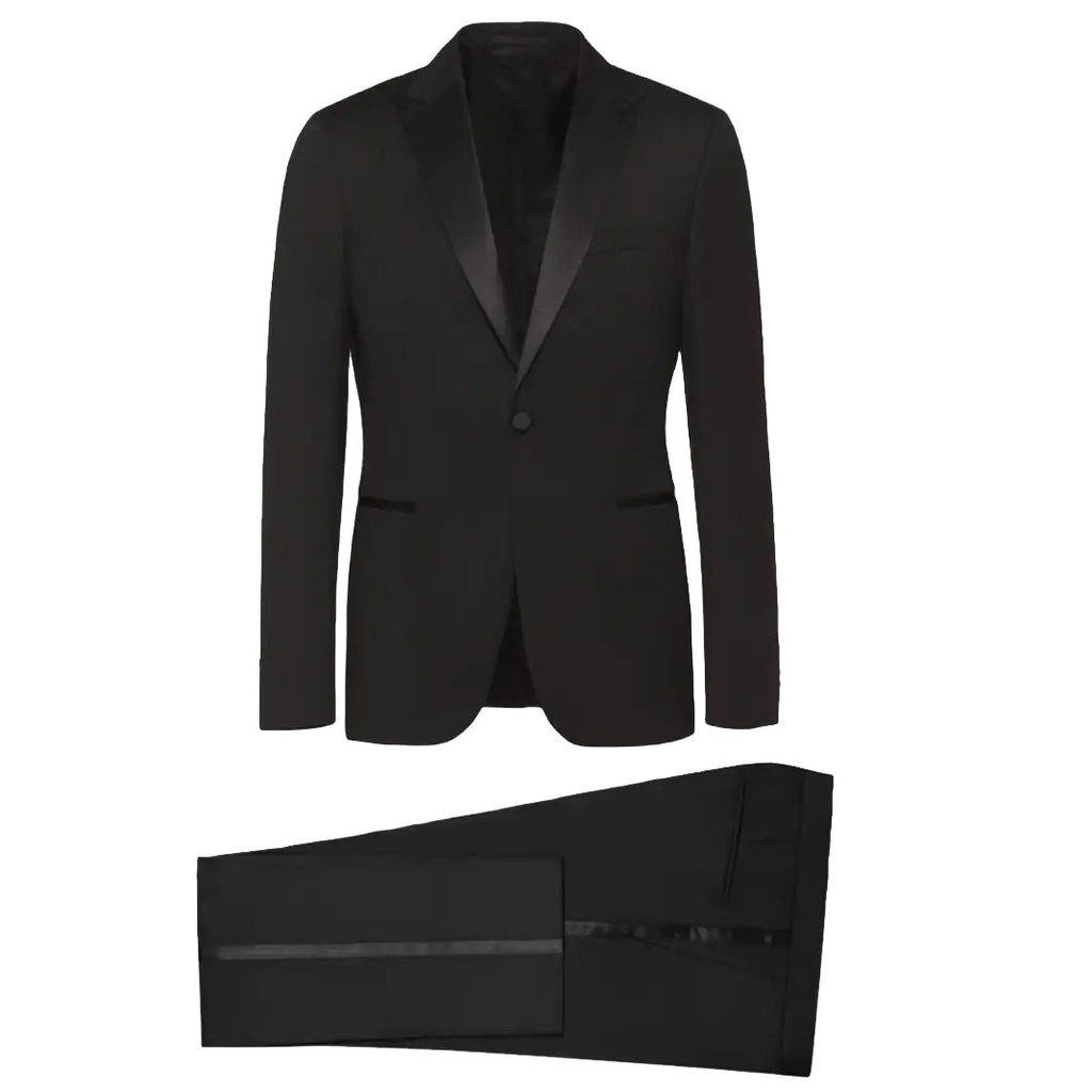 Z Zegna Black Peak Tuxedo - Ignition For Men